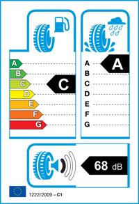 Etichetta per gomma: NOKIAN, WETPROOF 215/60 R16 99V Estive