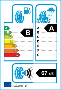 Etichetta per gomma: DUNLOP, BLURESPONSE 185/65 R15 88H Estive