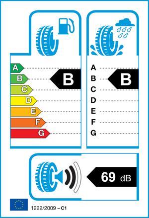 Etichetta per gomma: HANKOOK, K115 XL 205/50 R17 93W Estive