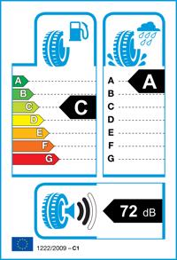 Etichetta per gomma: FALKEN, EUROWINTER VAN01 M+S 3PMSF 195/75 R16 107R Invernali