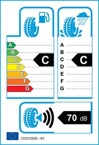 Etichetta per gomma: KUMHO, ES31 165/70 R14 81T Estive