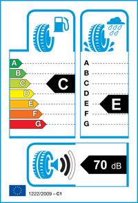 Etichetta per gomma: RADAR, RPX-800 165/60 R15 77H Estive