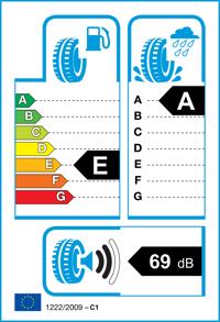 Etichetta per gomma: COOPER, ZEON CS8 205/50 R16 87V Estive