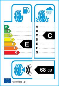 Etichetta per gomma: BRIDGESTONE, ER33 215/50 R17 91V Estive