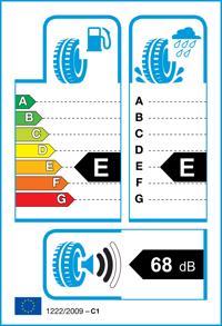 Etichetta per gomma: T-TYRE, TWO 155/65 R13 73T Estive