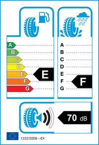 Etichetta per gomma: FULDA, KRISTALL MONTERO M+S 3PMSF 195/70 R14 91T Invernali