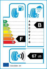 Etichetta per gomma: GOODYEAR, EXCELLENCE FP MOE ROF 245/40 R17 91W Estive