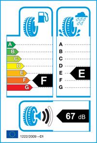 Etichetta per gomma: DUNLOP, SP WINTER RESPONSE 165/65 R15 81T Invernali