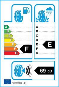 Etichetta per gomma: GOODYEAR, EAG.ULTRA GR. GW-3 *ROF M+S 3PM 185/60 R16 86H Invernali